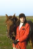 La fille et le cheval Photographie stock libre de droits