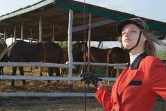 La fille et le cheval Photos libres de droits