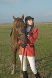 La fille et le cheval Image libre de droits