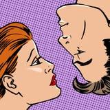 silhouette de profil de visage d 39 homme et de femme vecteur illustration de vecteur image. Black Bedroom Furniture Sets. Home Design Ideas