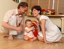 La fille et ses parents Photo libre de droits