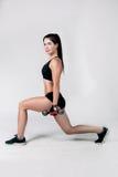 La fille exerce la forme physique Photo libre de droits