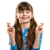 La fille fait un souhait Rêves d'enfance Image libre de droits