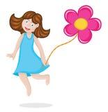 La fille heureuse saute Photo libre de droits