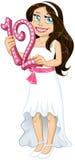 La fille juive tient le numéro douze pour le Mitzvah de batte Image libre de droits