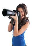 La fille le photographe photographie stock libre de droits