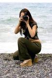 La fille le photographe Images libres de droits