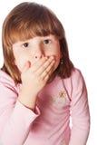 La fille maintient la bouche fermée Photo libre de droits