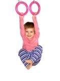 la fille mignonne arrête des boucles Image libre de droits