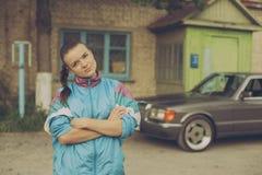 La fille pendant les années 90 Photo libre de droits