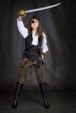 La fille - pirate avec la correction d'oeil photo stock