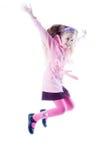 la fille sautant peu Photographie stock libre de droits