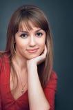 La fille sourit Photographie stock libre de droits