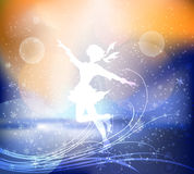 La fille sur les patins Images libres de droits