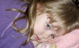 La fille triste Photos stock