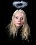 La fille un ange Image libre de droits