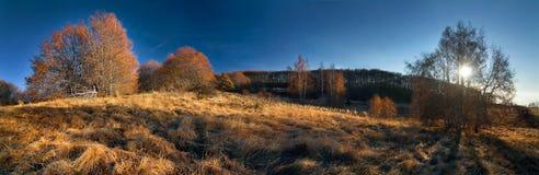 La fin d'un jour d'automne Photographie stock libre de droits
