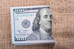 La fin de Benjamin Franklin font face sur le dollar US Photo libre de droits