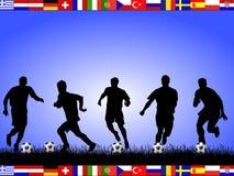 La fin de support du football teams 2008 Photographie stock