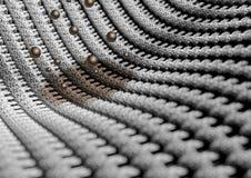 La fin microscopique du tissu ou les fibres avec la saleté souillent Image libre de droits