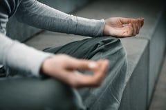 La fin remet la méditation Photographie stock