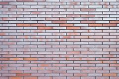 La fin supérieure vers le haut de la vue a détaillé la photo du mur de briques clair propre parfait idéal pour l'espace de copie  images libres de droits