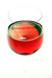 La fine del vino rosso in su ha isolato Immagini Stock Libere da Diritti