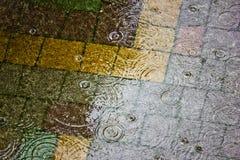 la fine della pioggia su Fotografie Stock