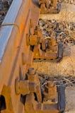 La fine ferroviaria in su Immagine Stock