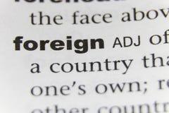 La fine straniera di parola su immagini stock
