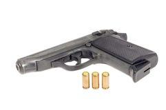 La fine in su di una pistola Fotografia Stock