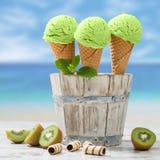 La fine su gelato Immagine Stock
