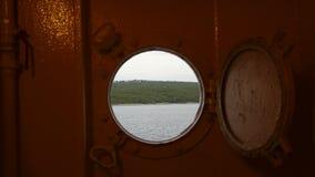La finestra della barca Fotografia Stock