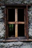 La finestra della casa della nazionalità di Dulong Fotografie Stock Libere da Diritti