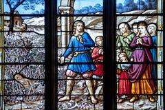 La finestra della chiesa Fotografia Stock