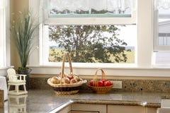 La finestra della cucina Fotografia Stock