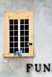 La finestra di divertimento Fotografie Stock
