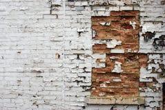 La finestra ha riempito di mattoni Immagini Stock Libere da Diritti