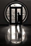 La finestra rotonda fotografia stock libera da diritti