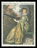 La Finette por Watteau Fotos de Stock