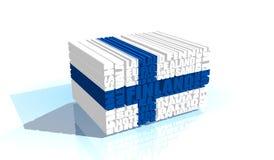 La Finlande étiquette le nuage Photos stock