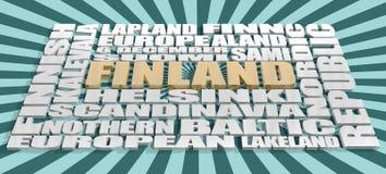La Finlande étiquette le nuage Images stock