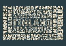 La Finlande étiquette le nuage Photographie stock libre de droits