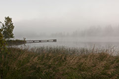 La Finlande, brouillard sur l'eau Images stock