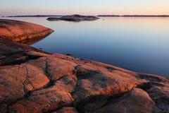 La Finlande : Côte de la mer baltique Photos libres de droits
