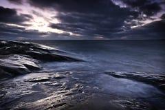 La Finlande : Côte de la mer baltique Images stock