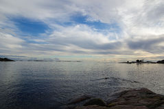 La Finlande, Hanko, coucher du soleil Image libre de droits