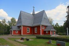 La Finlande, Iitti : Vieille église en bois (1693) Photos stock