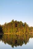 La Finlande : Matin d'été au lac images stock