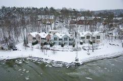 La Finlande - nature en hiver Photographie stock